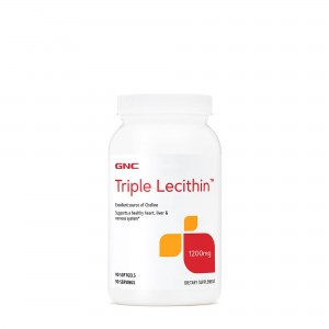 GNC Triple Lecithin™ 1200 mg, Lecitina Tripla, 90 cps