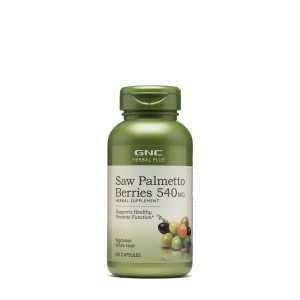 GNC Herbal Plus® Saw Palmetto Berries 540 mg, Fructe de Palmier Pitic, 100 cps