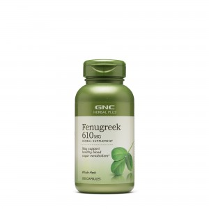 GNC Herbal Plus® Fenugreek 610 mg, Schinduf, 100 cps