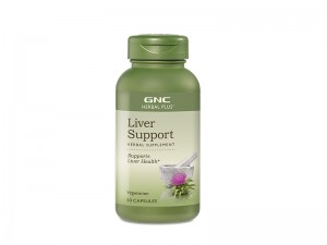 GNC Herbal Plus® Liver Support, Protectie Hepatica, 50 cps