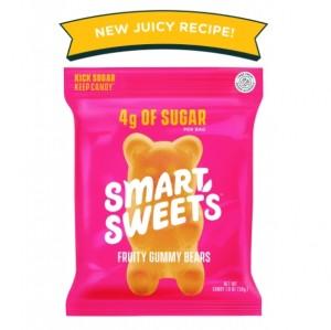 SmartSweets™ Gummy Bears, Prebiotice Ursuleti Gumati, cu Aroma de Fructe, 50 g