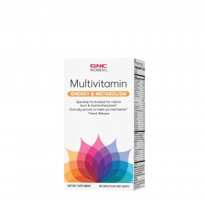 GNC Women's Ultra Mega® Energy & Metabolism, Complex de multivitamine Pentru Femei, 90 tb