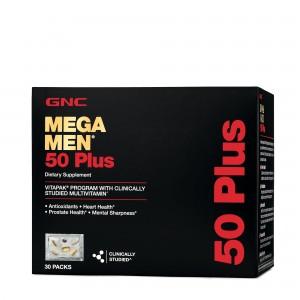 GNC Mega Men® 50 Plus Vitapak® Program, Complex de Multivitamine Pentru Barbati 50 Plus, 30 Pachetele