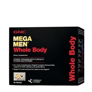 GNC Mega Men® Whole Body Vitapak® Program, Complex de Multivitamine Pentru Barbati, Pentru Intregul Organism, 30 Pachetele