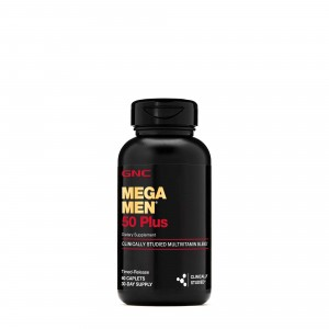 GNC Mega Men® 50 Plus, Complex de Multivitamine pentru Barbati, 60 tb