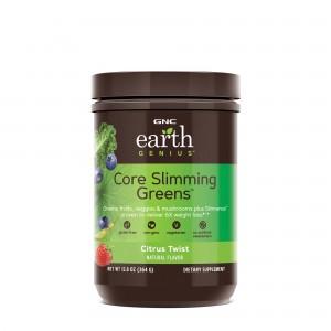 GNC Earth Genius™ Core Slimming Greens™, Complex Vegetal Pentru Controlul Greutatii, cu Aroma de Citrice, 364 g