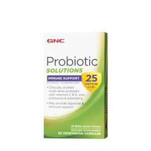 GNC Probiotic Solutions Immune Support - 25 Billion CFUs, Suport Pentru Imunitate 25 Miliarde Culturi Vii, 30 cps