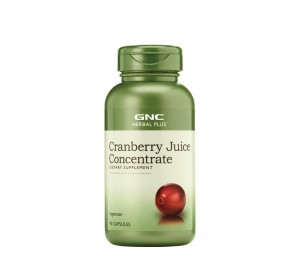 GNC Herbal Plus® Cranberry Juice Concentrate, Concentrat din Suc de Merisor, 90 cps