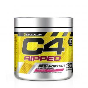 Cellucor® C4® Ripped, Formula Pre-Workout, cu Aroma de Limonada cu Zmeura, 180 g