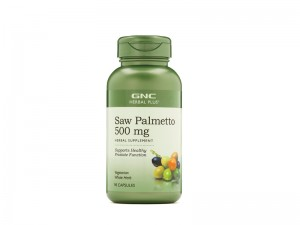 GNC Herbal Plus® Saw Palmetto 500 mg, Extract din Palmier Pitic, 90 cps