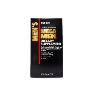 GNC Men's Mega Men Multivitamin, Complex de Multivitamine Pentru Barbati, 200 tb
