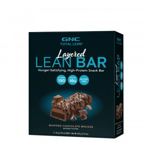 GNC Total Lean® Layered Lean Bar, Baton Proteic, cu Aroma de Mousse de Ciocolata, 44g