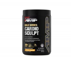 GNC Pro Performance® AMP Cardio Sculpt, Formula Pentru Accelerarea Metabolismului si Arderea Grasimilor, cu Aroma de Ananas si Portocala, 300 g