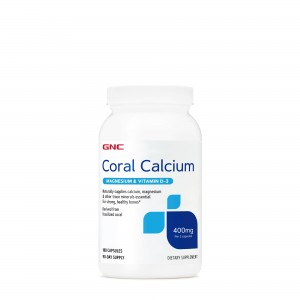 GNC Coral Calcium, Calciu Coral, 180 cps