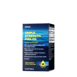 GNC Triple Strenght Fish Oil, Ulei de Peste, 60 cps