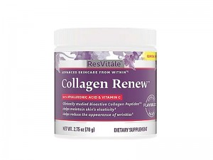 ResVitále™ Collagen Renew™, Colagen cu Acid Hialuronic si Vitamina C Pulbere, Fara Aroma, 78 g