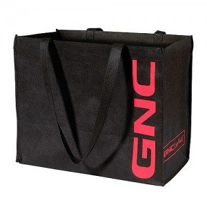 GNC Black Shopping Bag
