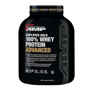 GNC Pro Performance AMP Amplified Gold Proteina din zer Advanced cu Aroma de Ciocolata, 2325 g
