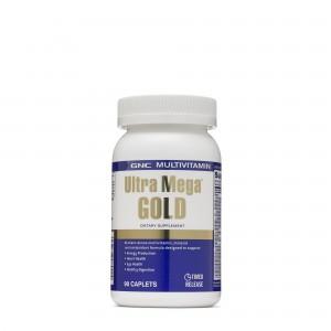 GNC Multivitamin Ultra Mega® Gold, Complex de Multivitamine, 90 tb