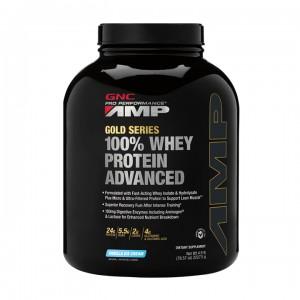 GNC AMP Gold Series 100% Whey Protein Advanced, Proteina din Zer, cu Aroma de  Vanilie, 2227.5 g