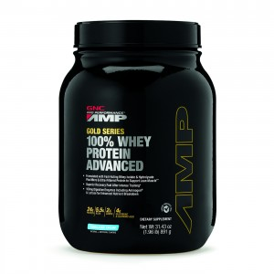 GNC AMP Gold Series 100% Whey Protein Advanced, Proteina din Zer, cu Aroma de Vanilie, 891 g
