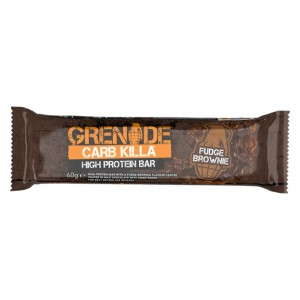 Grenade® Carb Killa® Fudge Brownie, Baton Proteic cu Aroma de Prajitura cu Ciocolata, 60g