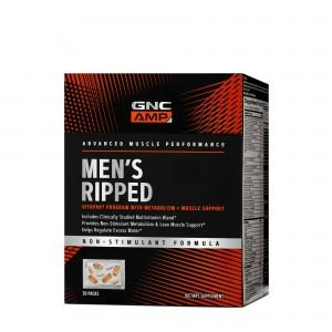 GNC AMP Men's Ripped Vitapak® Complex de Multivitamine Pentru Barbati- Non Stimulant, 30 Pachetele