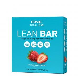 GNC Total Lean® Lean Bar, Baton Proteic, cu Aroma de Capsuni si Iaurt, 50g