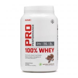 GNC Pro Performance® 100% Whey, Proteina din Zer, cu Aroma Naturala de Ciocolata, 955g