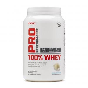 GNC Pro Performance® 100% Whey, Proteina din Zer, cu Aroma de Vanilie, 850 g