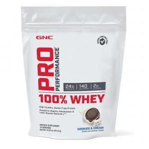 GNC Pro Performance® 100% Whey, Proteina din Zer, cu Aroma de Biscuiti si Crema, 411.6g