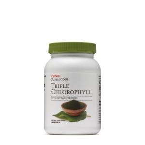 GNC Superfoods Triple Chlorophyll, Clorofila Tripla cu Fitonutrienti, 90 cps