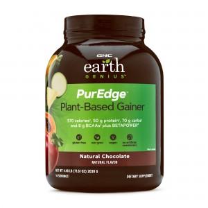 GNC Earth Genius™ PurEdge™ Plant-Based Gainer, Proteina Vegetala  Vegana, cu Aroma de Ciocolata Naturala, 2030 g