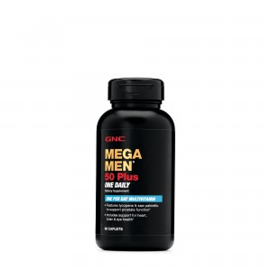 GNC Mega Men® 50 Plus One Daily, Complex de Multivitamine Pentru Barbati, 60 tb