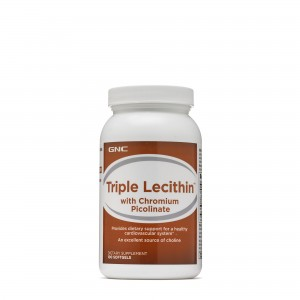 GNC Triple Lecithin™ with Chromium Picolinate, Tripla Lecitina cu Crom Picolinat, 100 cps