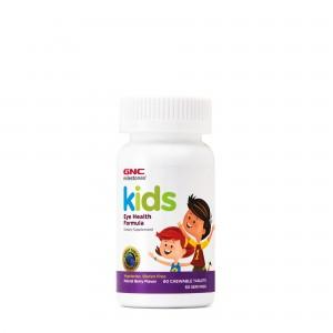 GNC Milestones® Kids Eye Health, Formula Pentru Copii, Suport Pentru Sanatatea Vizuala, cu Gust Natural de Fructe de Padure, 60 tb