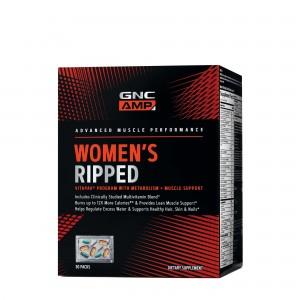 GNC AMP Women's Ripped Program VitaPack® Complex de Multivitamine Pentru Femei, 30 Pachetele