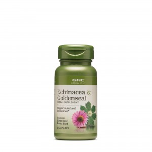 GNC Herbal Plus® Echinacea & Goldenseal, Echinaceea si Gentiana, 50 cps