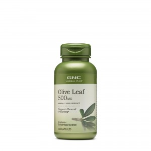 GNC Herbal Plus® Olive Leaf 500mg, Extract din Frunze de Maslin, 100 cps
